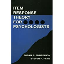 Item Response Theory: Item Response Theory for Psychologists (Multivariate Applications Series) (English Edition)