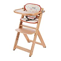 Timba 成长高脚椅将安全列为*** buchenholz/rot