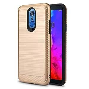 LG Q7+/LG Q7 Alpha/ Q7α 手机壳,NewFrontier 防震柔性 TPU 橡胶软硅胶全机壳保护套适用于 LG Q7 手机壳,LG Q7 Plus 手机壳 VGC Gold