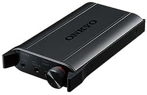 ONKYO 便携式耳机放大器 搭载USB-DAC 高分辨音质 黑色  DAC-HA200(B)