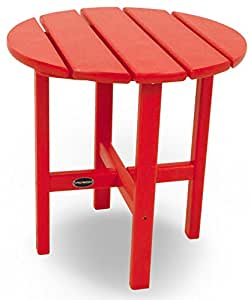 "18"" Round Outdoor POLYWOOD Side Table Sunset Red 无尺寸"