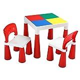 Liberty HOUSE 玩具2合1活动桌子和两椅子,塑料,红色 / 白色