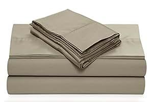 TRIBECA LIVING 360SADPSSKIGR 360 TC 棉质深口袋床单套装 灰褐色 Queen 360SADPSSQUTA