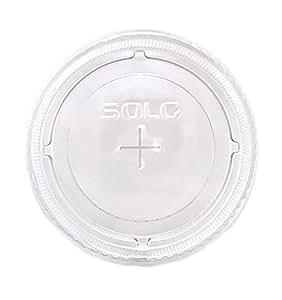 SOLO 杯子公司吸管插槽冷杯盖,透明,200 片 透明 200 Count