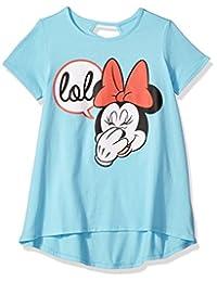 迪士尼女童米妮短袖 t 恤