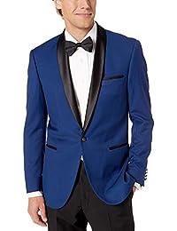 Adam Baker 男式修身单扣缎面披肩领燕尾服套装 - 颜色