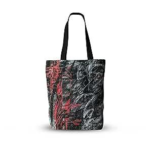 "KESS InHouse Bruce Stanfield""Areus""红色抽象所有手提袋 多种颜色 16"" x 16"""
