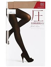 (厚木)ATSUGI 紧身裤袜 ASTIGU 【压】 塑形发热紧身裤袜 80D 〈3双装〉 薄米色 M~L