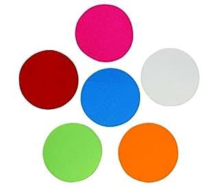 各种颜色胶粘毡圆圈 5.08 cm、7.62 cm、10.16 cm 或 12.7 cm 宽、自粘、模切;DIY 项目,专业工艺 12.7 厘米圆圈 Single Package Lgfc
