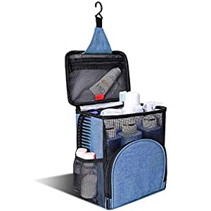 KUSOOFA 淋浴包手提包,悬挂洗漱袋,洗澡整理袋,采用快干技术和防霉保护,男女皆宜 蓝色