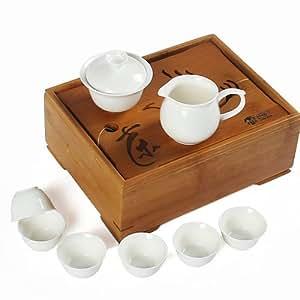 BAIHONG 百鸿 孟宗竹茶盘竹制茶盒 便携茶盘旅行茶具 送功夫茶具 2014WHTZ42(亚马逊自营商品, 由供应商配送)