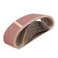 ABN 皮带砂纸磨砂皮带用于皮带磨砂机,氧化铝砂皮带 3x18 英寸 10 件装 150 Grit 9935