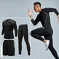 GTU 两件套 跑步套装男训练紧身衣秋冬季健身服运动健身房晨跑速干FH-2115414-533269