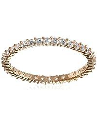 施华洛世奇女式戒指不锈钢透明玻璃 509532 粉色 52