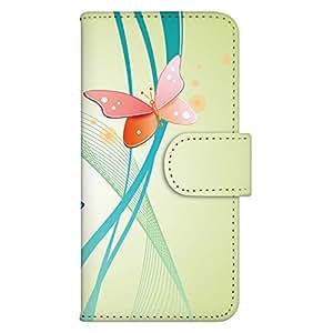 智能手机壳 手册式 对应全部机型 印刷手册 wn-288top 套 手册 蝴蝶图案 UV印刷 壳WN-PR189262-L HTC J butterfly HTV31 图案C