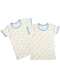 Baby Story 2件套 印花半袖圆领衬衫 T11134-2 日本制造 萨克斯 95