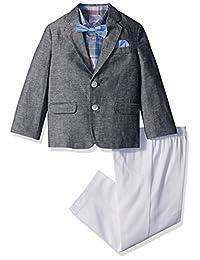 Nautica 男孩 DENIM LOOK DUO 套装带蝴蝶结和手帕