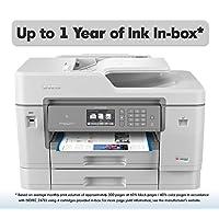Brother 喷墨打印机 INKvestment 彩色喷墨多功能一体打印机,带无线,双面打印 New Model: MFC-J6945DW (inc. 1 year ink) 白色 需配变压器