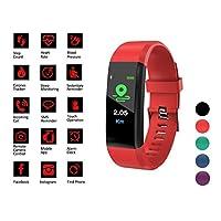 智能手表健身追踪带 - 男女儿童活动与*监测器,*和心率监测器,计步器,卡路里计数器 - 防水腕带 带 带 带 Android 和 iPhone 应用程序
