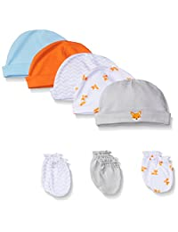 Luvable Friends 棉帽和刮擦手套套装