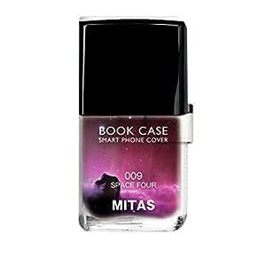 mitas スマホケース 手帳型  ネイル 宇宙D 19_INFOBAR A03 (KYV33)