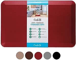 """ComfiLife 抗*地垫 – 3/4英寸(约1.9厘米)厚完美厨房垫,立式书桌垫 – 舒适家居、办公室、车库,耐用 – 防污 – 底部防滑 红色 Medium 20""""x32"""""""