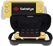 Satisfye - New Lite 超薄套装,灰色 - 兼容Nintendo Switch Lite 的配件 - 套装包括:Grip Lite、Slim Case。 附赠:2 根拇指棒