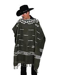 El Paso Designs Clint Eastwood 细肩西部斗篷毛衣 - 96.52 cm x 96.52 cm,墨西哥手工编织制造