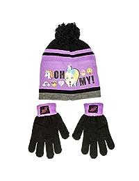 Jojo Siwa 女孩冬季帽子和手套套装,均码