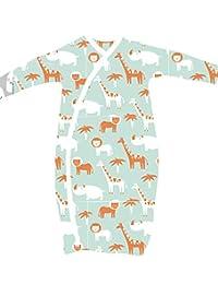 2 件装 * *棉和服睡袍男孩女孩带易更换按扣和内置手套、复古鲸鱼和动物园动物