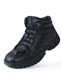 西漠公牛XIMOBULL 男士冬季户外靴子 头层牛皮 加毛保暖 防滑老人棉靴 1199/X/80DP/X/X