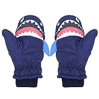 RARITY-US 儿童幼儿防水保暖滑雪滑雪手套儿童冬季手套,动物图案
