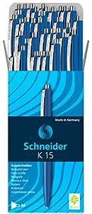 Schneider K 15圆珠笔 (钢夹) 50个 蓝色