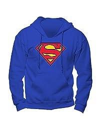 超人男式标志连帽衫