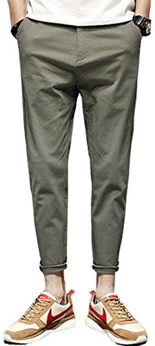アバクロメンズカジュアルパンツコットンハーレムパンツスリムパンスト足居心地の良い男性の夏の新しいソリッドカラー9つのパンツJ906