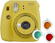 instax 16607123 Mini 9 Camera 有线接口/性别适配器16632960 仅摄像机 透明黄色