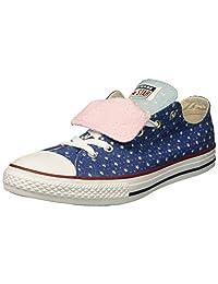 Converse 儿童双舌星镂空低帮运动鞋