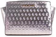 Michael Kors 迈克高仕 Selma 皮革三角形绗缝中斜挎包 香槟色