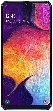 """三星 Galaxy A50 解锁智能手机,64GB 内存,6.2"""" 屏幕,[Sm-A505U1XAA] 美国版本,12 个月制造商"""