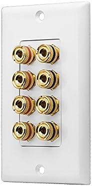OSD Audio WP8 8-Terminal Speaker Decora Binding Post Wall Plate