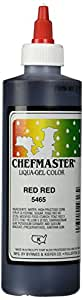 Chefmaster Liqua-Gel Food Color, 10.5-Ounce, Red