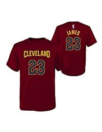 Lebron James Cleveland Cavaliers #23 Wine Youth Name & Number T Shirt