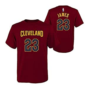 Lebron James Cleveland Cavaliers #23 Wine Youth Name & Number T Shirt 栗色 YS