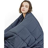 YnM 加重毛毯,人用厚毛毯 深灰色内加重层 60''x80'' 17lbs B073VSFGCL
