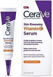 CeraVe 适乐肤 透明质酸的维生素C血清,含10%维生素C,可为面部皮肤增白血清,无香料,1盎司(约28.35克),30毫升