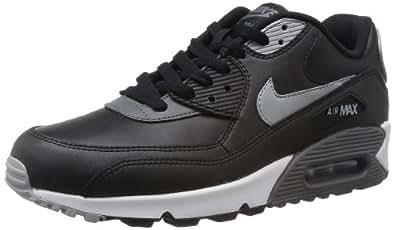 NIKE Nike Air Max 90 Essential Mens Trainers Black (Black/Silver/Dark Grey) 8.5 UK