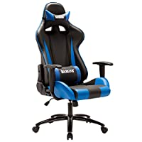 Bajiujian 八九间 WCG游戏座椅人体工学电竞椅 可躺赛车椅电脑椅子 蓝色滑轮款(供应商直送)