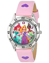 Disney 儿童 PN1171 手表,带粉色表带