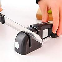 Yoki Home 快速磨刀器 家用磨刀工具棒(2个装) 厨房陶瓷油石磨刀石 双槽设计 一个粗磨口 一个细磨口 即可快速修复刀锋