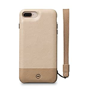 Sena Wristlet Case - Genuine leather Lanyard Wristlet Case for iPhone 8 Plus / 7 Plus Sand/Desert